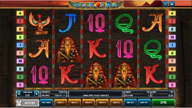 символы игрового автомата Книга Ра Делюкс