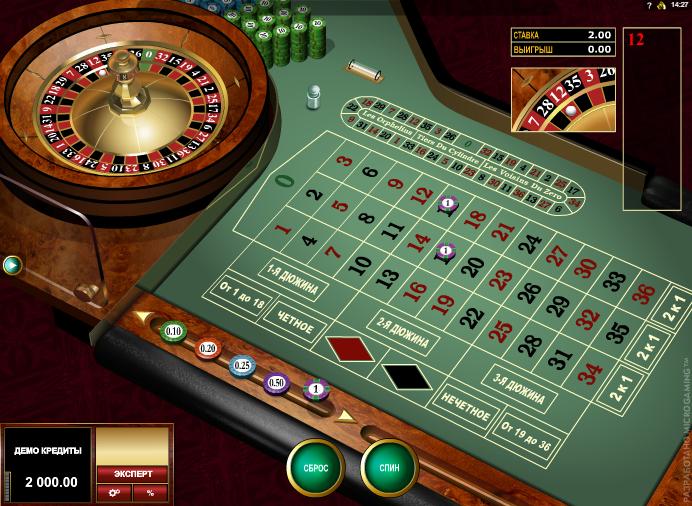 Рулетка в интернет казино