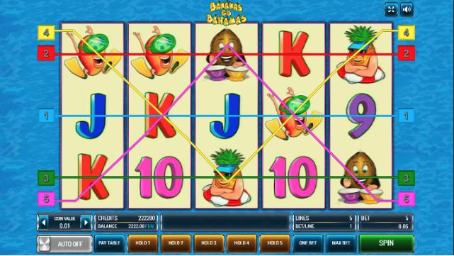 Символы игрового автомата Бананы едут на Багамы