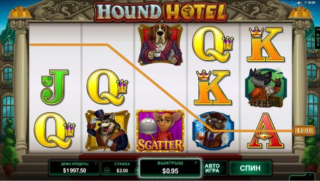 игровой автомат hound hotel