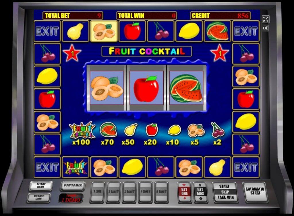 fruit cocktail бонусная игра