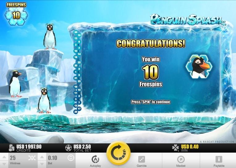 Бесплатные вращения penguin splash